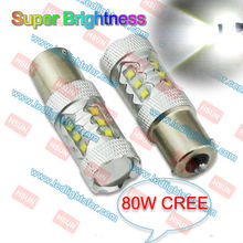 High Quality 80W Auto LED Light, C-REE Led BAU15S Car Side Turn Signals Light