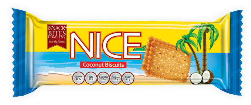 Nice Biscuits - Sugar Coated Coconut Biscuits - Ticky Pack