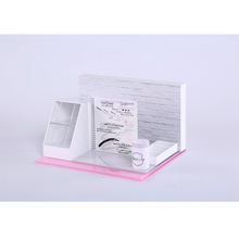 fashion style white acrylic cosmetic display stand for nail polish lipstick make up organizer