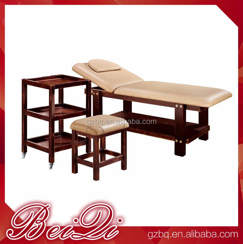 Beiqi Bamboo Massage Set Full Body Massage Bed Used Spa Equipment Wooden Massage Table