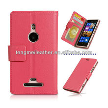 Leather Wallet Mobile Phone Case For Nokia Lumia 925,Lumia Case,Nokia Case