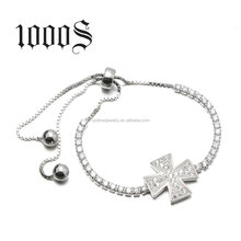 Popular Fair Design Friendship Adjustable Silver 925 Charm Chain Bracelet