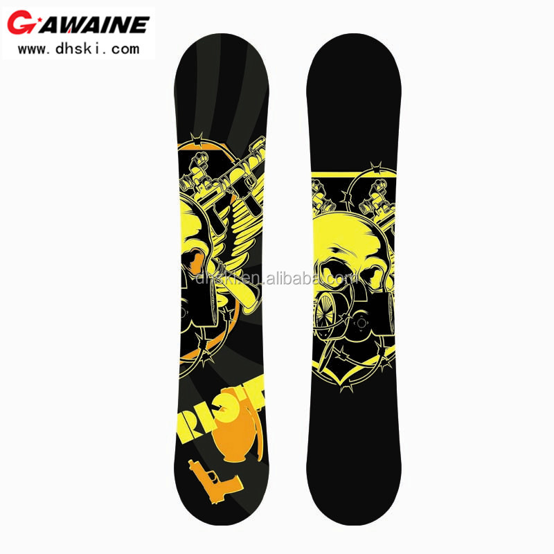 Fiberglass abs steel edge all terrain snowboard