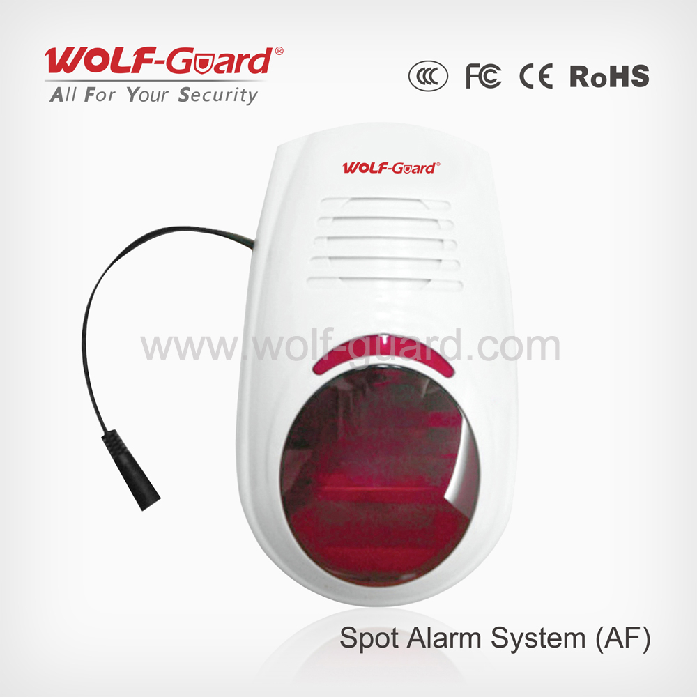 AF Outdoor Flash and Sound Wired & Wireless Alarm Siren Can Reach 120dB
