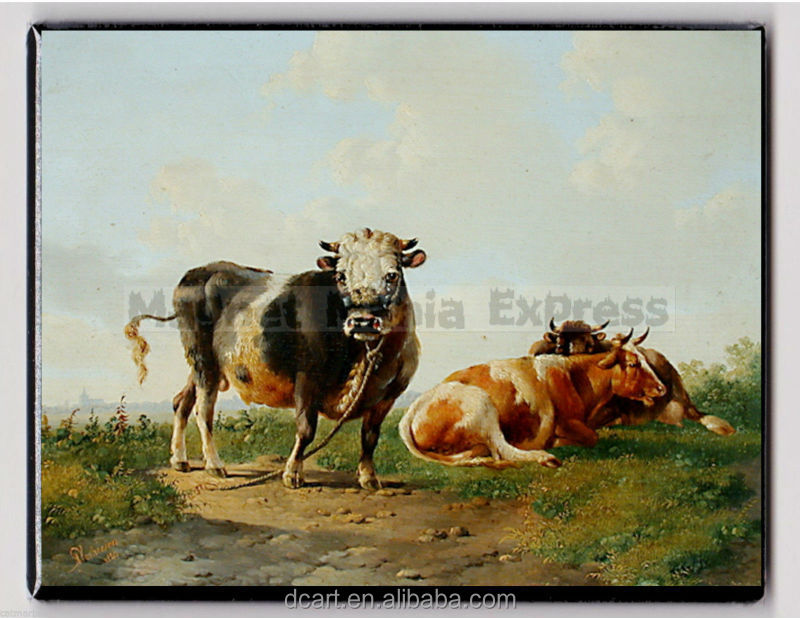 High-quality Hand-made Modern Decorative Cow Wholesale Oil Painting