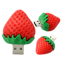 Promotional Fruit flash usb drive with strawberry watermelon biscuits