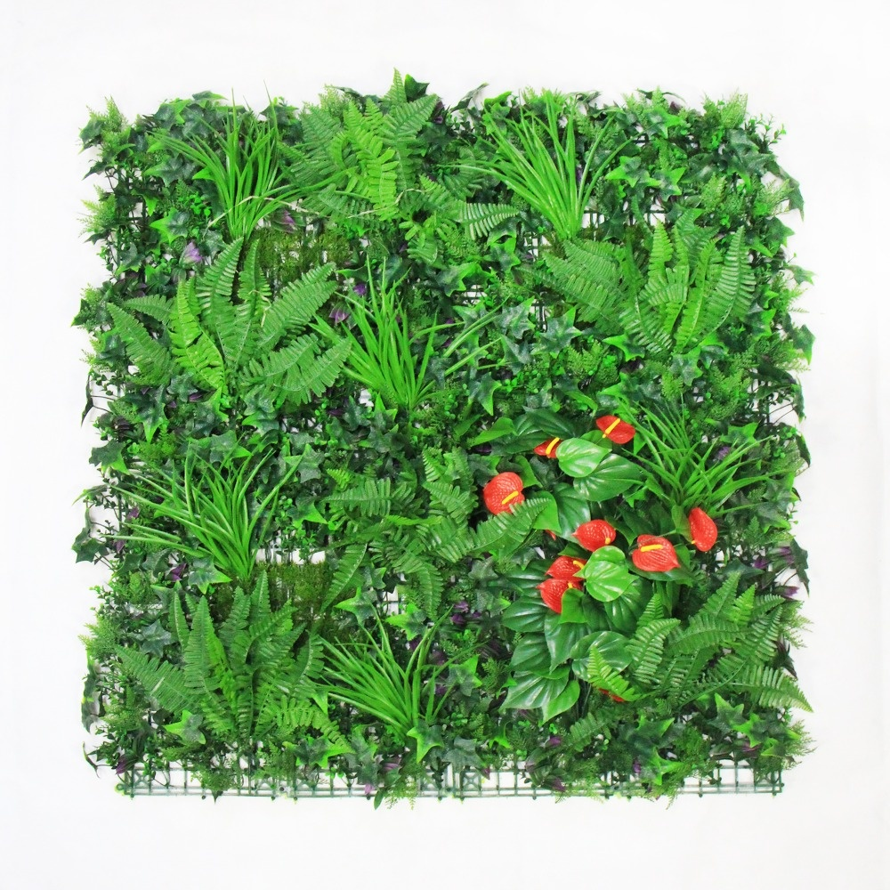 cheap plastic artificial palm trees leaves hedge plants wall mat