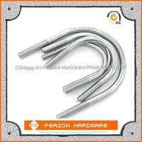 Factory customize 201 stainless steel U bolt With Thread and nut