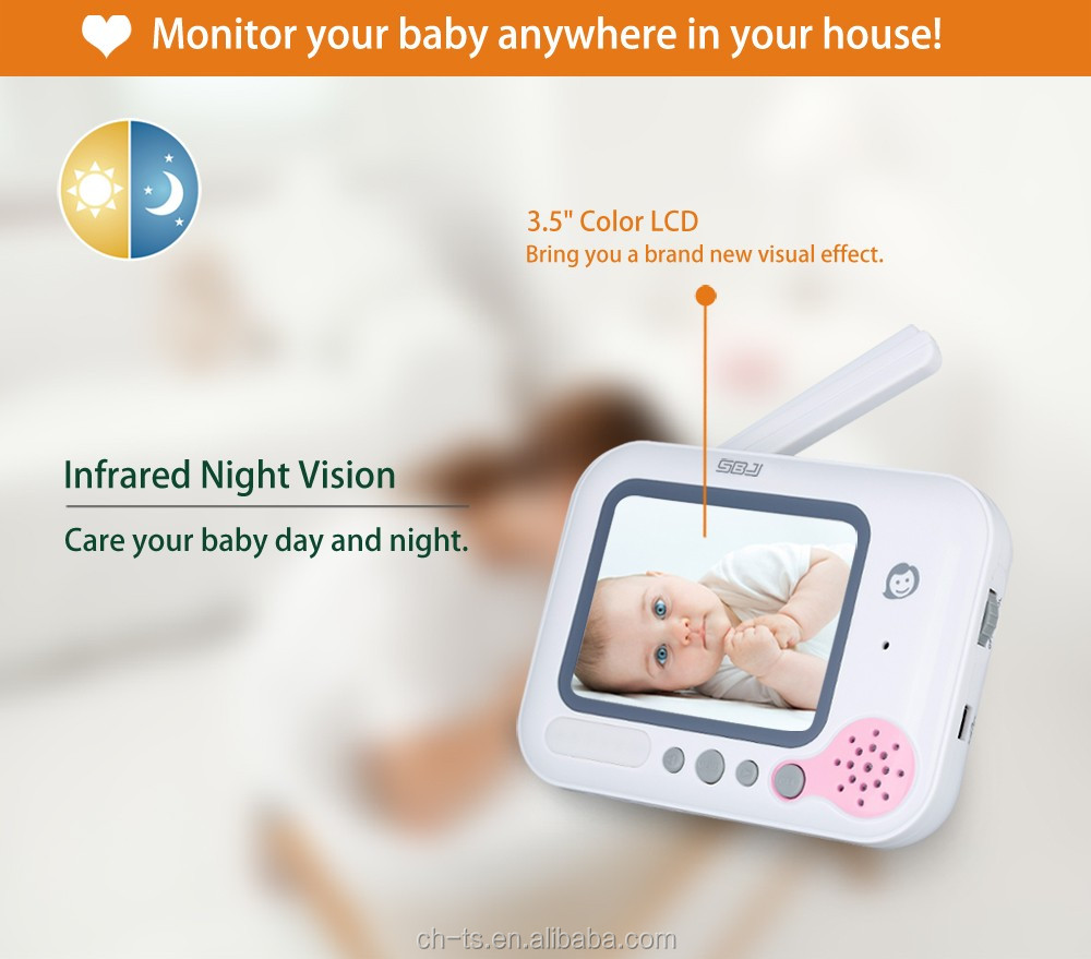 3 5 lcd video baby monitor wireless digital camera buy video baby monitor wireless digital. Black Bedroom Furniture Sets. Home Design Ideas