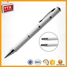Novelty cheap promotional flower pattern pens,stylus pen for capacitance screen