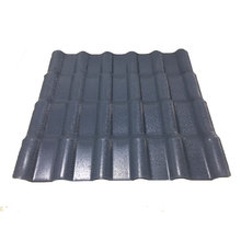 Fire-resistant spanish resin asa color coated plastic roof tiles sheet for garden