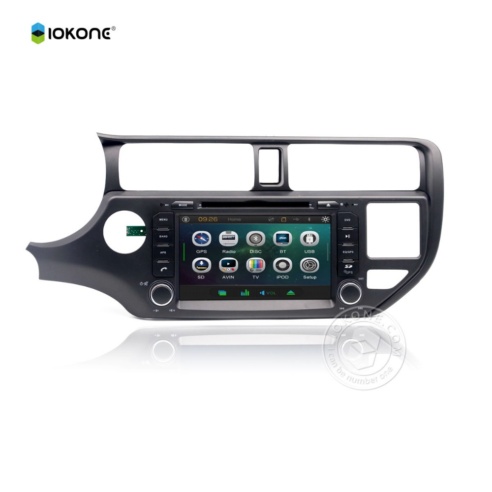 Factory Wholesale IOKONE Wince Car In dash DVD for KIA RIO