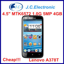 NEW ARRIVAL lenovo A378T original unlocked phone MT6572 dual core 4.5inch 5MP android Russian Polish