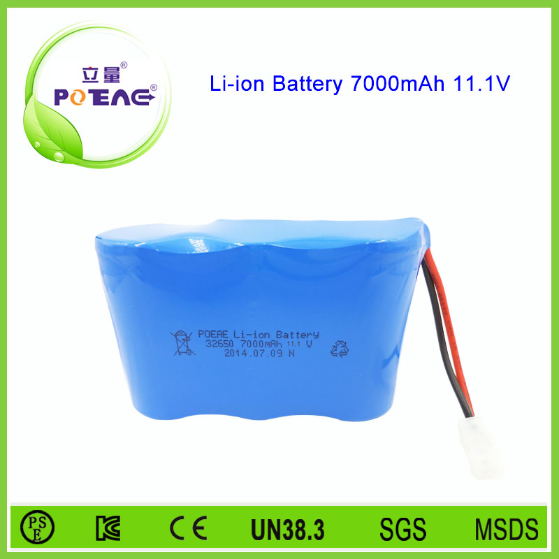 3s1p 12v 7ah li-ion battery 32650 used for lawn mower