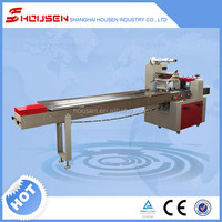 High Speed Horizontal Flow Cookie Packaging Equipment Pillow Bag Pack Rice Cracker Packing Machine