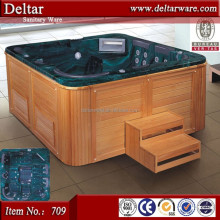 8 person outdoor spa bath tv spa, sexy massage batuth layout , acrylic corner spa bath