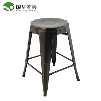 China wholesale supplier restaurant stackable metal chair