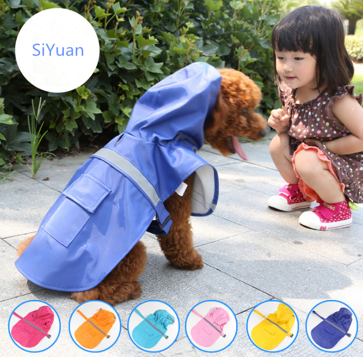 Reflective stripe waterproof snow defence dog pet raincoat outdoor dog clothes