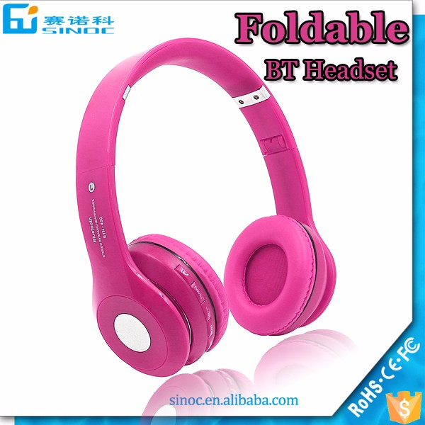 wireless headphone bluetooth headset,cheap headphone with fm radio bluetooth headset foldable headphone