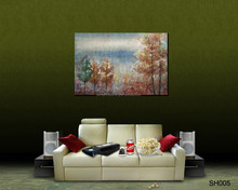 2017 High Quality Painting Home Decoration Handmade Woodland Art Wall Oil Painting on canvas SH005