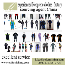 Reliable Chinese business trade Agency professional Neoprene diving suit sport cloth producer factory sourcing agent