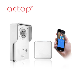 ACTOP Wifi-602 silver wifi video Door Phone doorbell camera for IOS & Android smart Phone