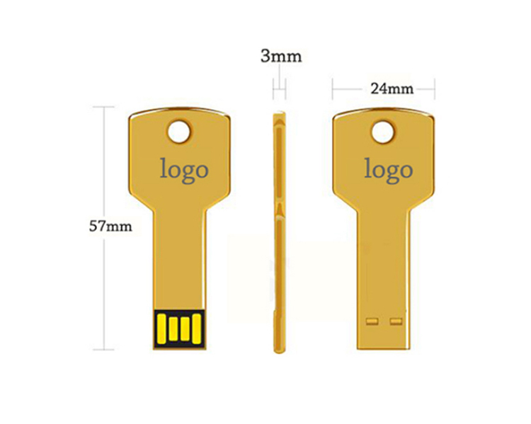 Metal Personalized Custom Logo Memory Flash Drivers 4Gb 8G 16Gb 32Gb 128Gb 3.0 Usb Key