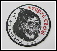 Custom Woven Patch/Skull Woven Badge/Punk Applique Patches