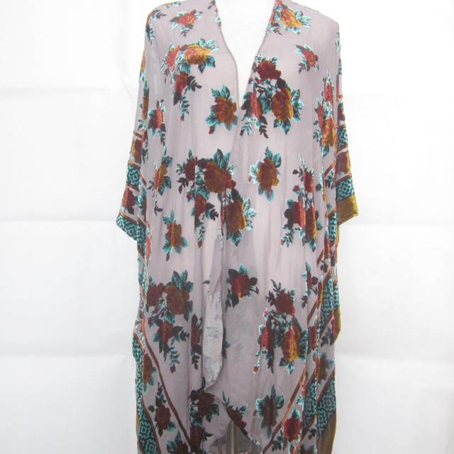 Fashion velvet burnout wearables long dresses women blouses