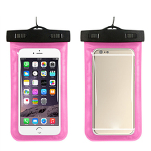 Factory price ultra thin Plastic Cell Phone Neck Ganging Bag Swim Travel Waterproof Phone Pouch Case for iphone 8 / iPhone X