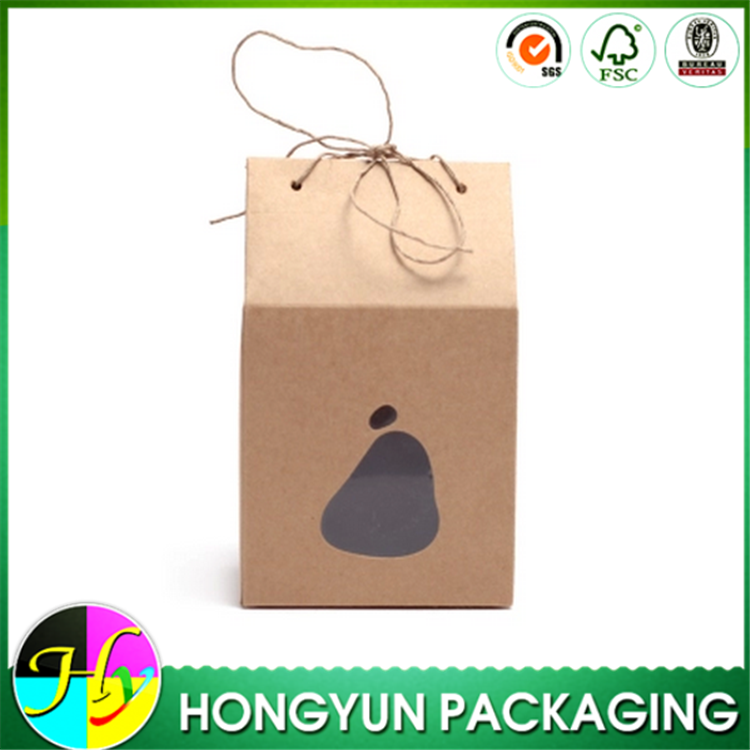 Creative house shape food kraft paper box, paper box for packaging leisure food