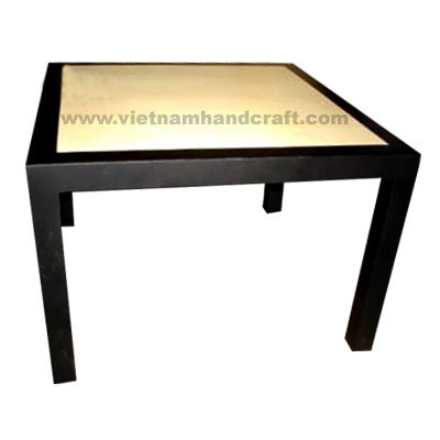 Quality eco-friendly traditionally hand finished vietnamese lacquer bamboo bedroom furniture in black & gold leaf