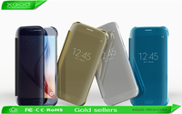 For Samsung galaxy s6 edge clear view cover Auto sleep wake mirror flip case