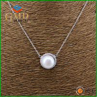 Jewelry manufacturer china lastest design attractive freshwater pearl gold chain necklace