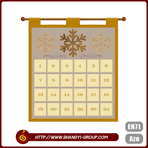 Good quality name brand polyester christmas advent calendar 2013