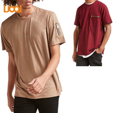 Factory Wholesale Hot Selling New Design 100 Cotton High Quality Zippered Utility Pocket Mens T Shirt
