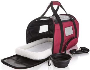 Soft Sided Travel Pet Carrier Onboard Airline Approved Under Seat Bag Cute Dog Carrier Bag for Cats and Dogs