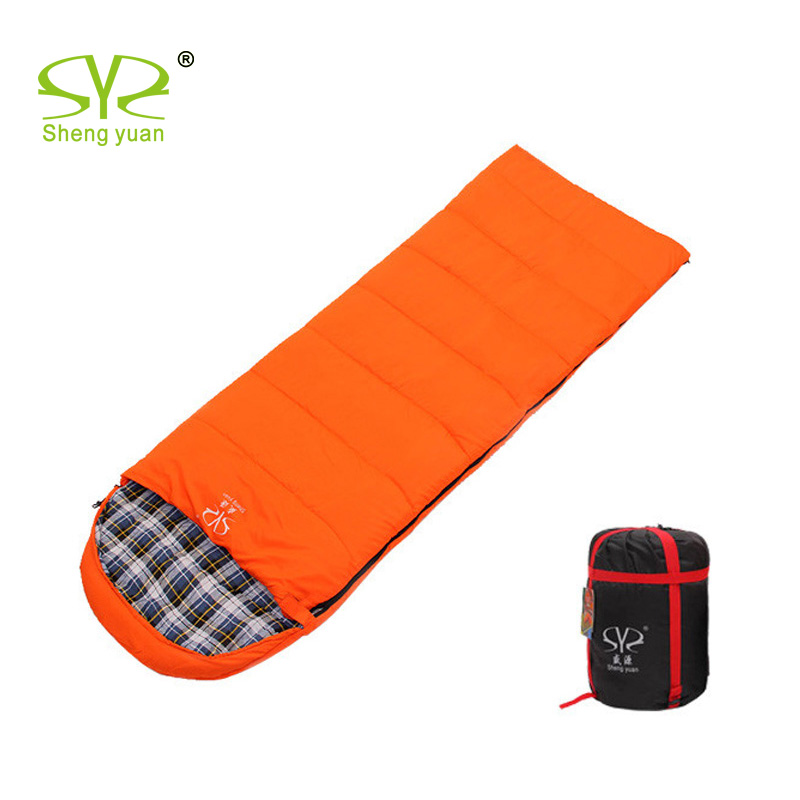 Outdoor adult Joint sleeping bag for Autumn Winter Flannel lining camping envelop sleeping bag