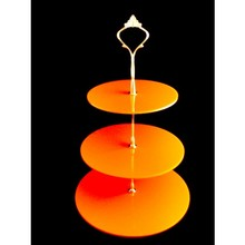 Acrylic Tower Cupcake Display Countertop Orange Circle Acrylic Cake Stand
