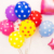 2018 cheap price various color polka dot  print  latex Balloon for party decoration