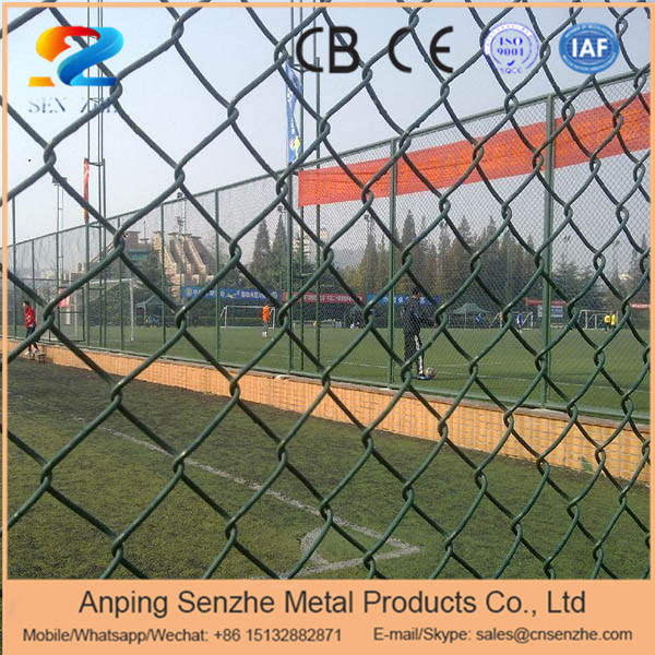 2016 hot sale 2013 green powder coated chain link fence with low price