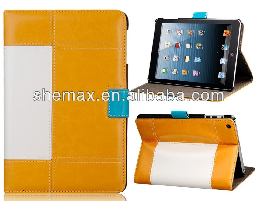 Top Quality Handheld Leather Case for ipad mini/Multifunctional Leather Case for ipad mini 7.9 inch Tablet PC