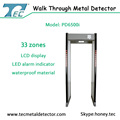 2017 New arrival high sensitivity metal detector door with 33 zone PD6500i