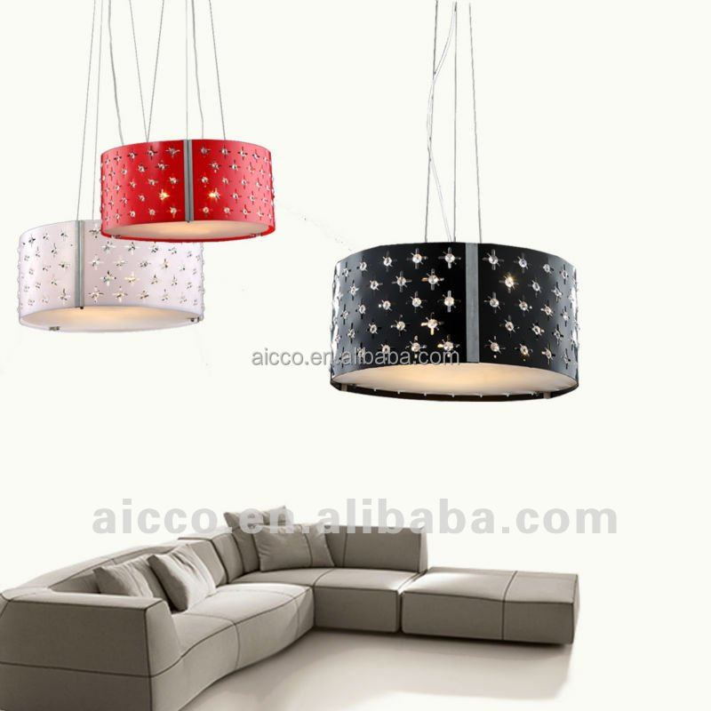 china supplier new product chrome metal and clear crystal pendant lights fixture led lamparas colgantes avize lamp lustre