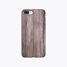 High Quality Unpolished Wood Pattern Custom IMD TPU Cell Phone Case For iPhone 7 Plus