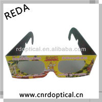Color paper 3D circular polarized glasses,3d converter for lcd tv