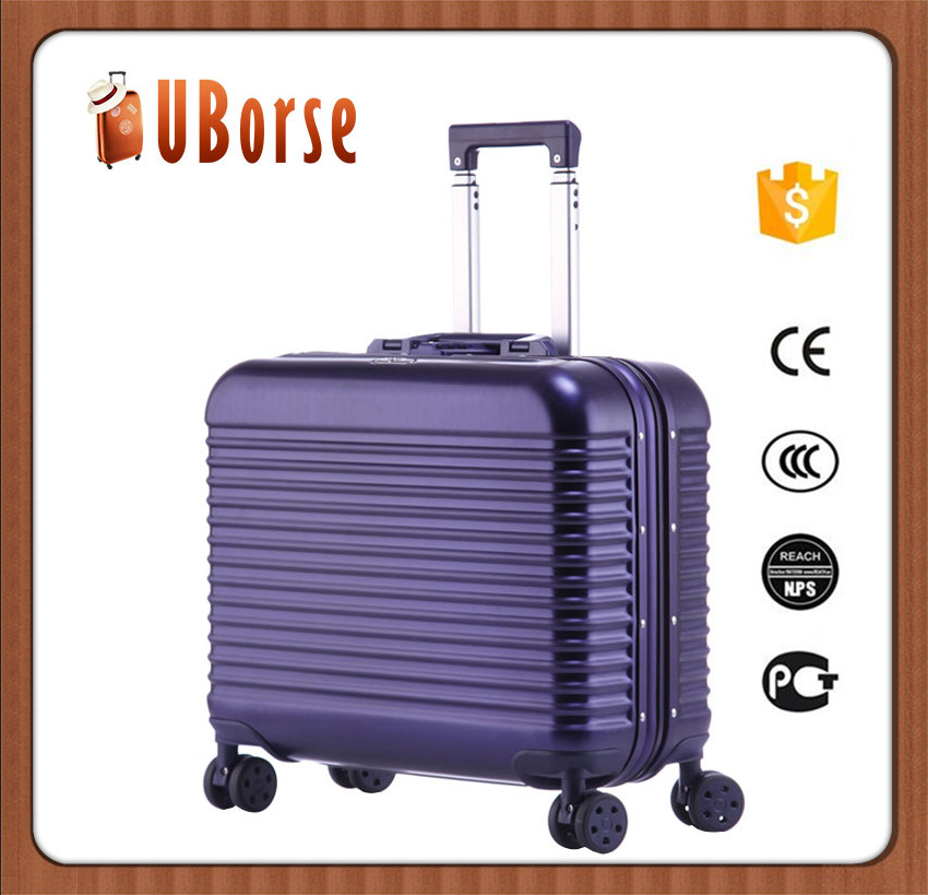 17'' Industrial aluminum suitcase carry on luggage with removable wheels