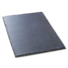 Square Natural Slate Plate Europe Popular Tray Slate Cheese Pizza Stone Steak Dish Flat Plate Fruit Food Tray