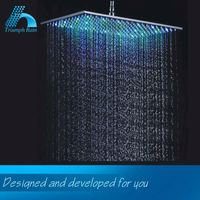 Elegant Top Quality Make Your Own Design Factory Price Water Saving 7 Color Led Lights Shower Head Bathroom Showerheads