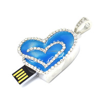 Jewelry.blue heart shape USB flash memory